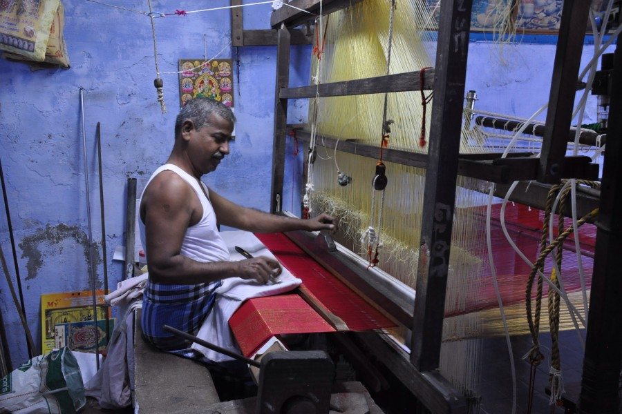 Kanchipuram, on tisse la soie