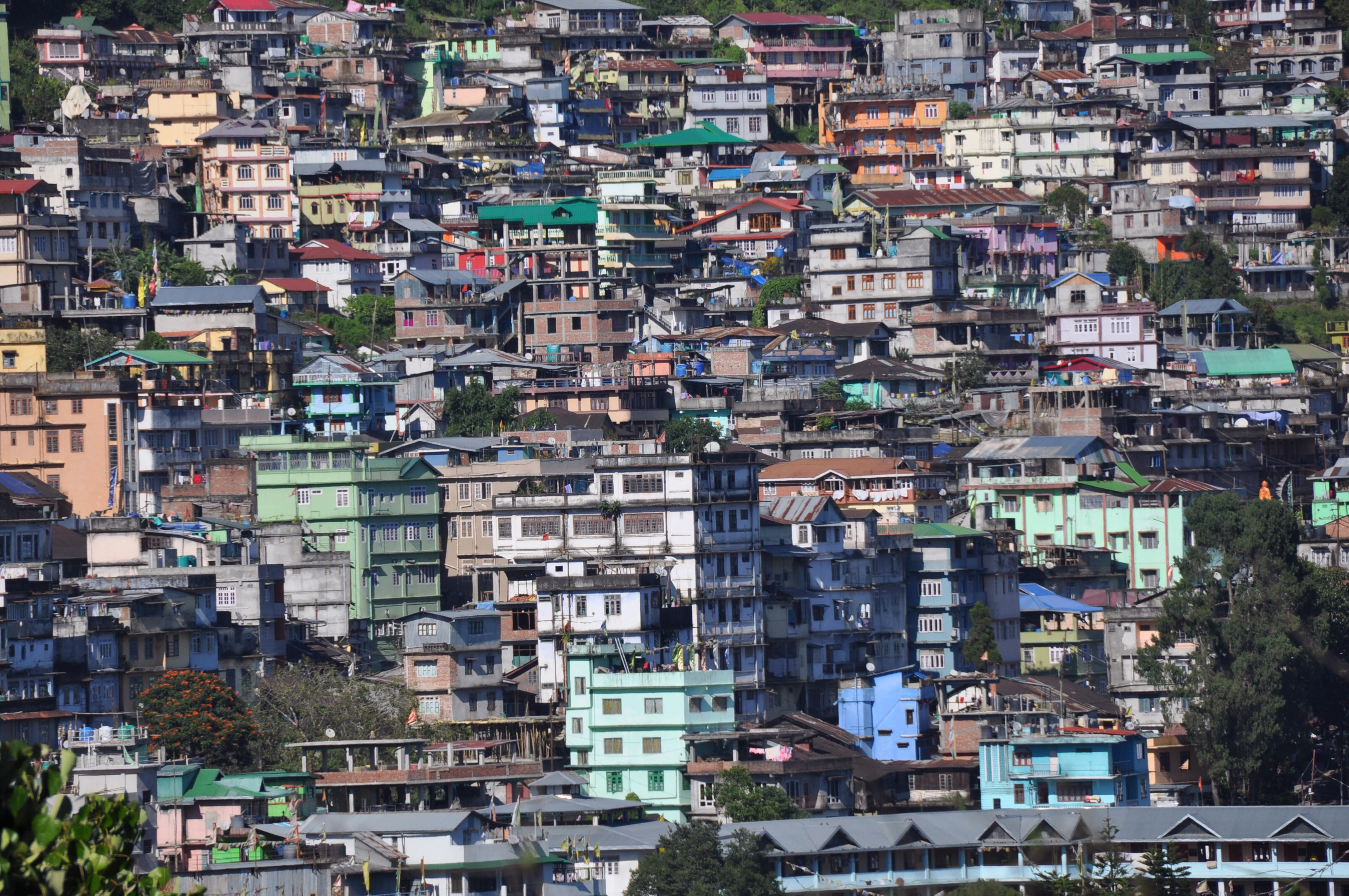 Gantock, capitale du Sikkim