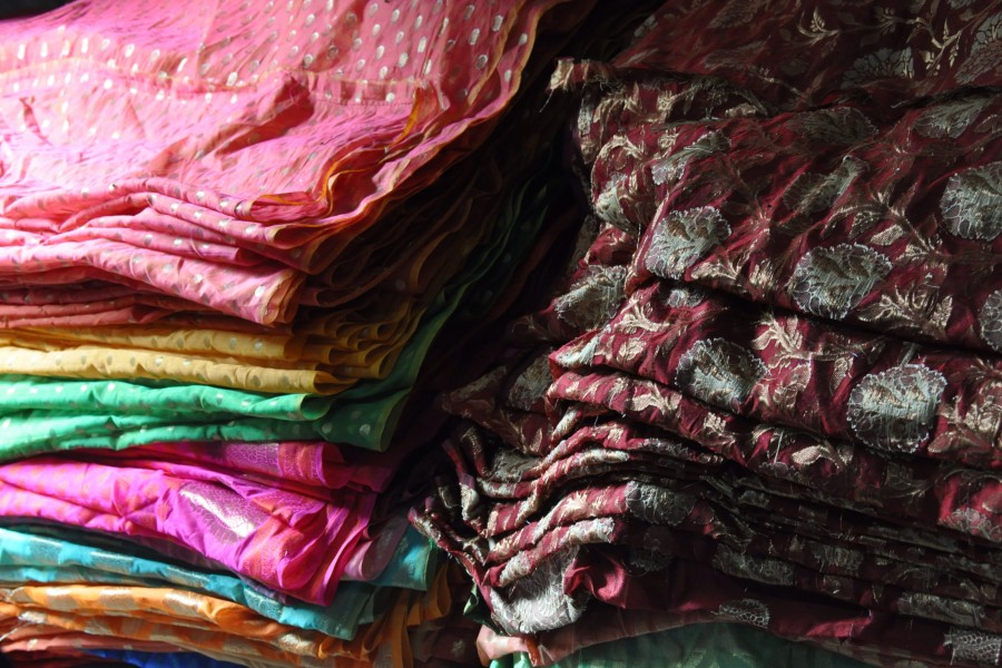 Brocards tissés a Varanasi