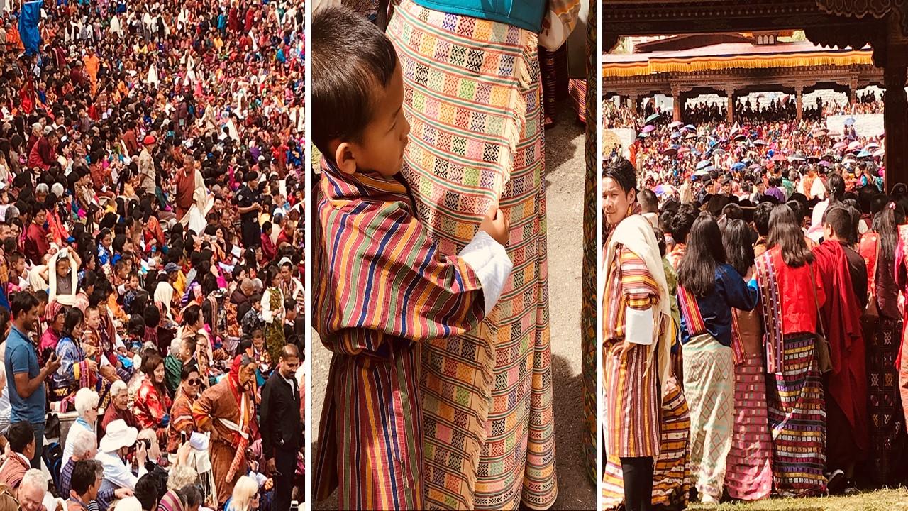 Fête traditionnelle au Bhoutan