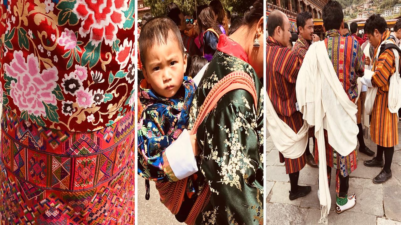 Tenues traditionnelles Bhoutan